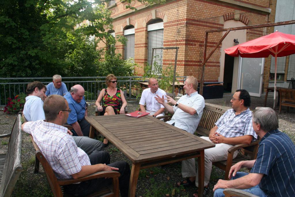 Besuch der Fraktion in der Vitos Heilpädagogische Einrichtung Riedstadt August 2012